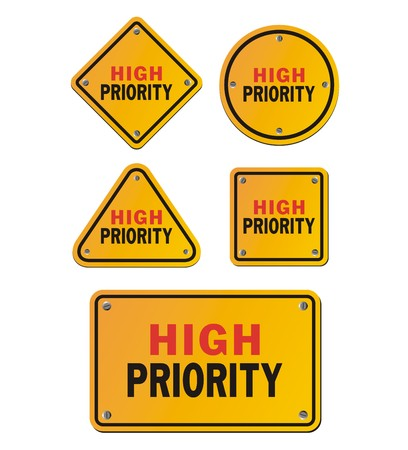 priority: high priority signs