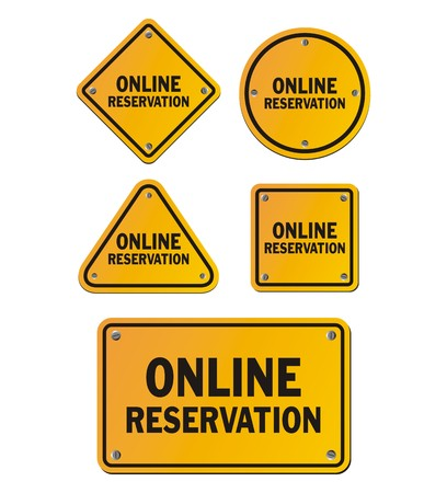 e new: online reservation signs Illustration