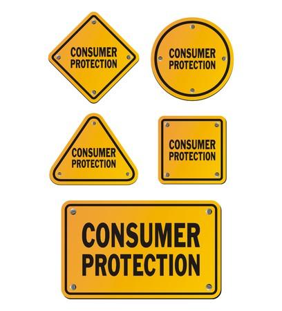 Verbraucherschutzschilder Vektorgrafik