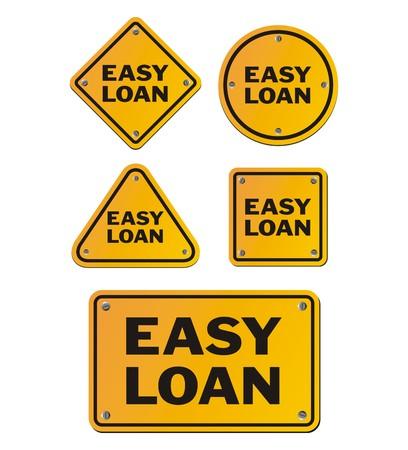 financial condition: easy loan signs