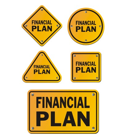 financial plan: financial plan signs