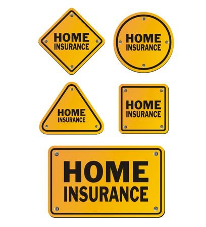 home finances: home insurance signs Illustration