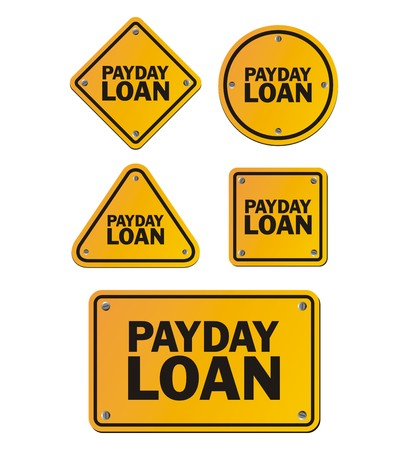 payday: payday loan signs Illustration