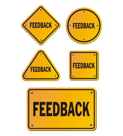 react: feedback yellow signs Illustration