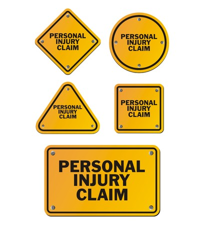 settlement: personal injury claim signs Illustration
