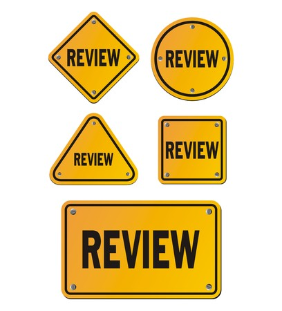 review: review yellow signs Illustration