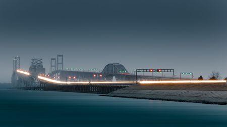 maryland: Chesapeake Bay Bridge, Evening Rush Hour