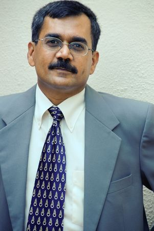 An Indian businessman in a suit