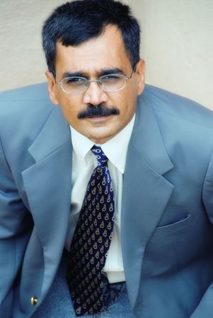 An Indian businessman in a suit photo