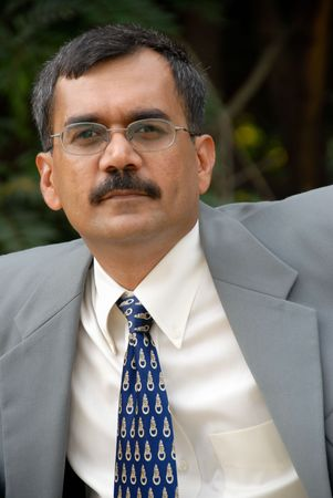 Asian Indian businessman in a suit Stock Photo