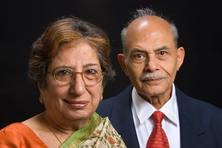 A portrait of an elegant East Indian couple