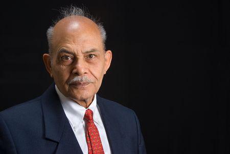 A portrait of a senior Asian man Stock Photo