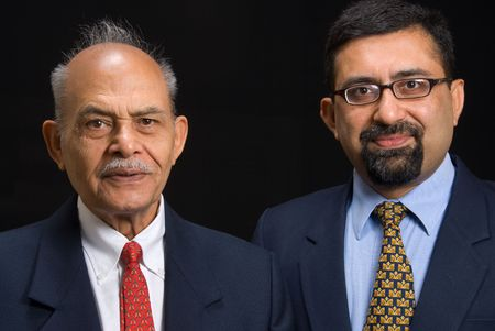 A portrait of two Asian business executives photo