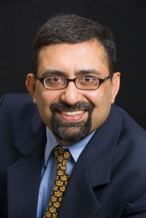 A portrait of a smiling Indian executive Stock Photo