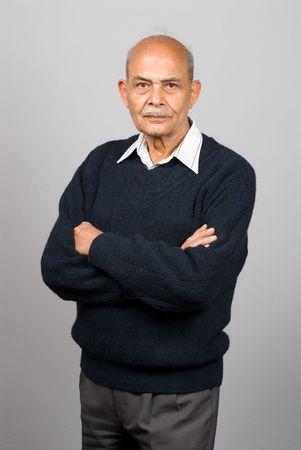 A portrait of a senior Asian Indian man