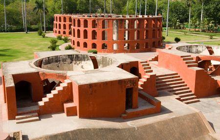 The Jantar Mantar observatory in New Delhi, India Banco de Imagens