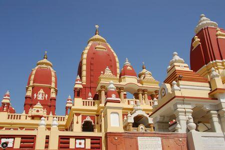 North Indian Hindu Temple (Birla Mandir) in New Delhi, India