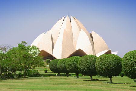 lotus temple: Lotus Temple in New Delhi, India