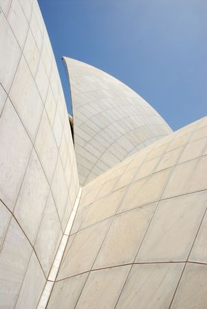 Lotus Temple in New Delhi, India - detail