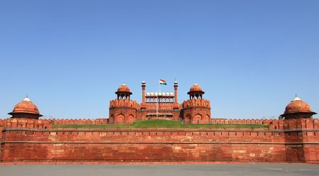 The Red Fort in in Delhi, India is a World Heritage monument