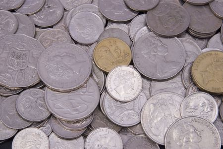 Pile of Australian coins photo