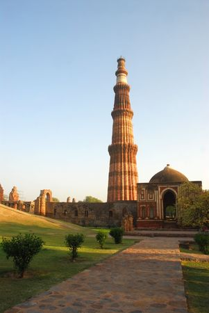 The Qutab Minar in New Delhi, India is a UNESCO world heritage site photo