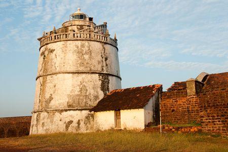 The lighthouse at Fort Aguada, Goa, India Stock Photo - 6158101