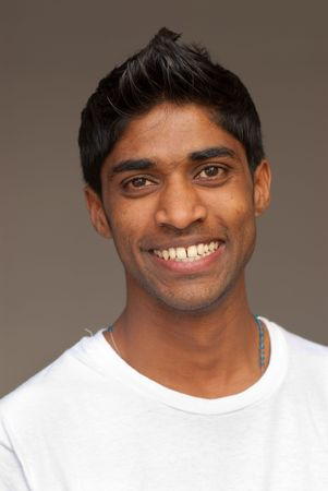 A portrait of a young Indian man photo