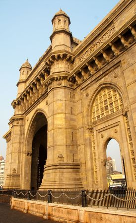 monument in india: The Gateway of India monument in downtown Mumbai (Bombay), India