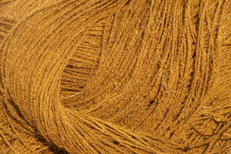 A closeup of twisted coir rope - abstract pattern