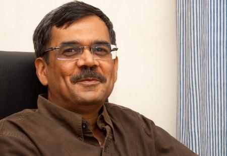 A portrait of a smiling Indian man Banco de Imagens
