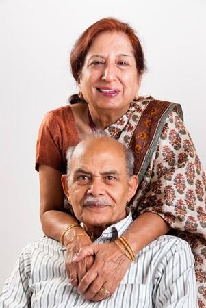 A senior Indian  Asian couple Banco de Imagens