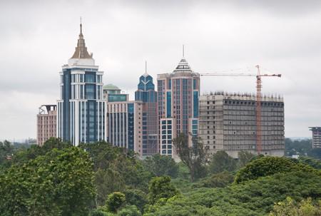 Ein Blick auf die Innenstadt Bangalore Standard-Bild - 7629364