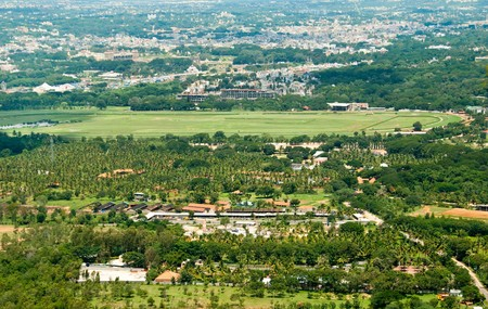arial view: An arial view of Mysore, India