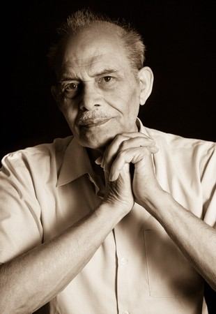 A portrait of a senior Indian man photo