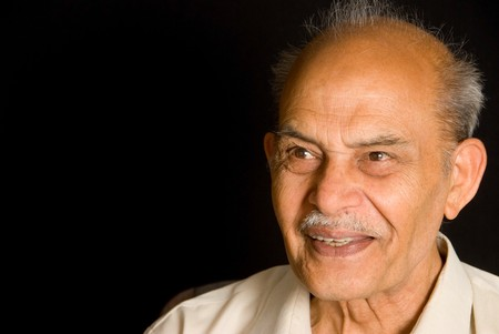 A portrait of a smiling Indian senior Stock Photo