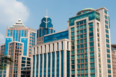 Buildings in downtown Bangalore India Stock Photo - 9179815