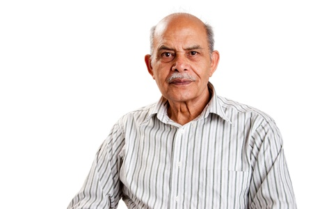 A senior Indian  Asian man - isolated on white