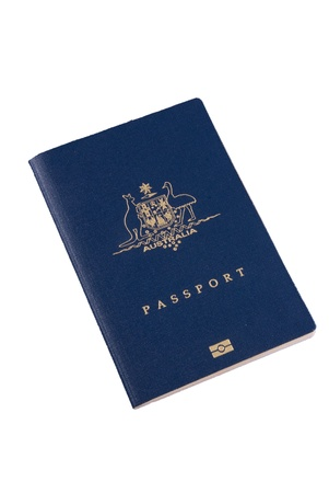 foreign nation: Australian Passport - isolated image Stock Photo