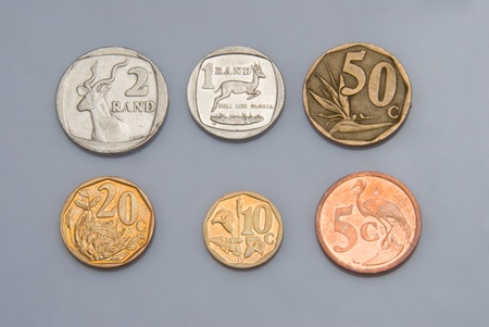 copper coin: A bunch of South African coins