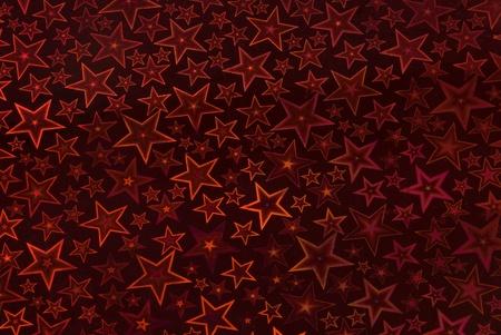 Starry night background - in dark red Stock Photo