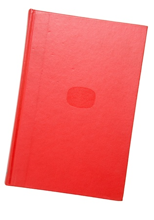 notebook cover: A bound red book - isolated