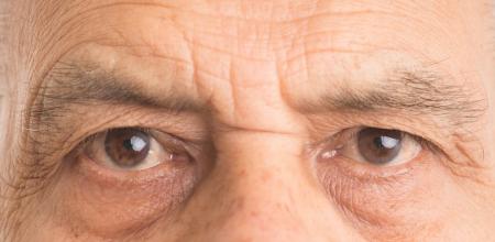 Senior man eyes - close up