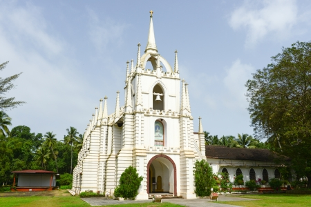 A beautiful Church in Goa, India  Goa is a popular tourist destination in India photo