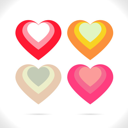 nested: Four heart nested combination in beautiful colors