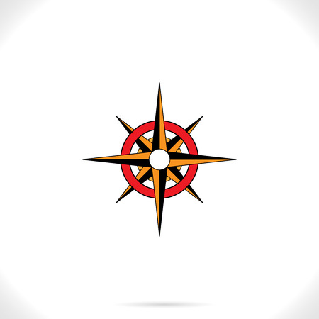 old fashioned: An old fashioned retro compass vector
