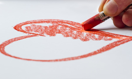 drawing a sketch of the heart photo