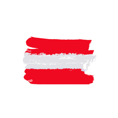 austrian flag: Austria flag painted by brush hand paints. Art flag. Abstract background symbolizes the country Illustration