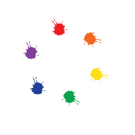 picker: Stains left ink. Abstract colourful background. Color picker of blots for your design. Illustration