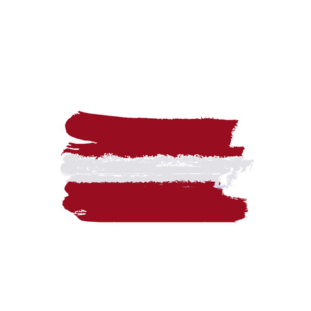 latvia flag: Latvia flag painted by brush hand paints. Art flag. Abstract background symbolizes the country